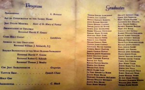 '55 graduation program