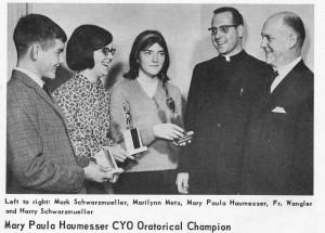 1965 CYO Oratorical winners