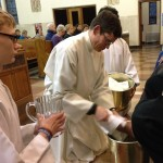 Fr. Pribek washes feet