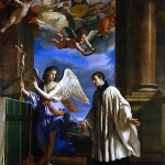 St. Aloysius with visit from an Angel