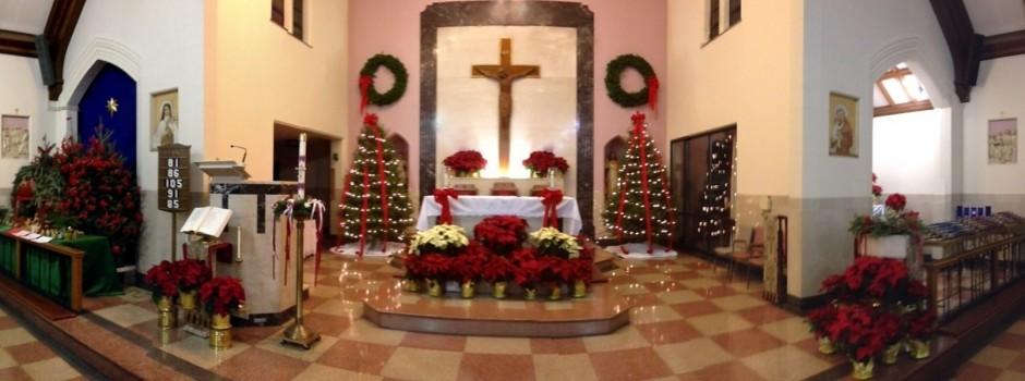 x St. Aloysius Christmas Altar